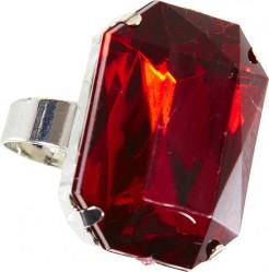 Edler Juwelenring Mittelalter-Ring silber-rot