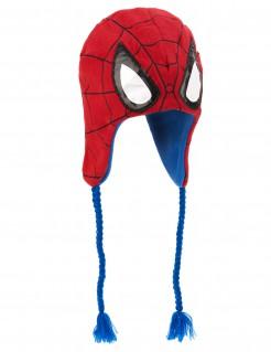 Spiderman Erwachsenen-Mütze rot
