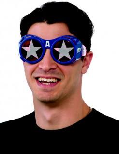 Captain America - Kostümbrille für Erwachsene blau