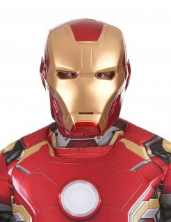 Iron Man II Maske Erwachsene rot-gold