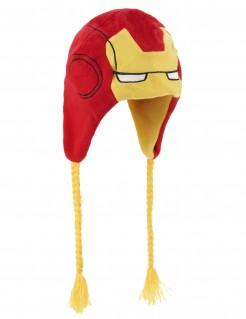 Iron-Man-Mütze für Erwachsene gelb-rot