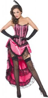 Burlesque Can-Can Damenkostüm Showgirl pink
