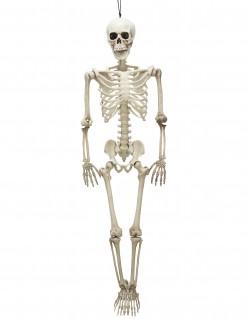 Bewegliches Skelett Halloween Party-Deko weiss 99x28x7cm