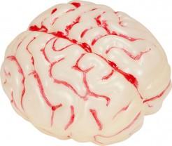 Leuchtendes Gehirn mit Farbwechseln Halloween-Party-Deko weiss-bunt 15x23x7cm