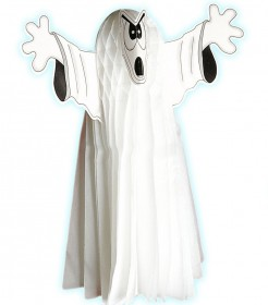 Wabendeko Geist Halloween Party-Deko weiss 13x13x55cm