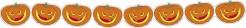Kürbis Girlande Halloween Party-Deko orange 300x13,5cm