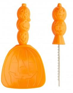 Halloween-Set zum Kürbisschnitzen Messer und Löffel 2-teilig orange