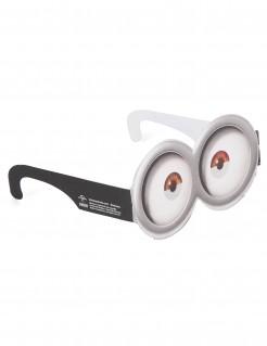 Minions™ Brille weiss-schwarz