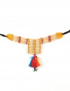 Indianer Halskette Kostümaccessoire bunt