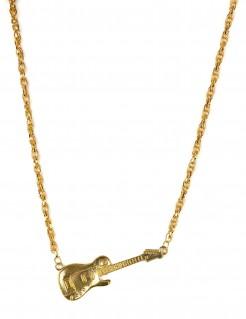 Gitarren-Halskette gold