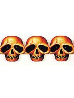 Totenkopf Girlande Halloween Party-Deko bunt 250x5cm