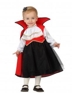 Süsse Vampirin Halloween-Babykostüm Kleindkind schwarz-rot-weiss