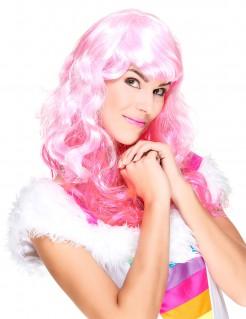 Glamour Damen-Perücke Locken rosa