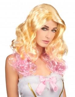 Glamour-Damenperücke Showstar blond-rosa