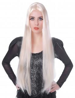 Vampirin Damenperücke mit langen Haaren Kostüm-Accessoire blond