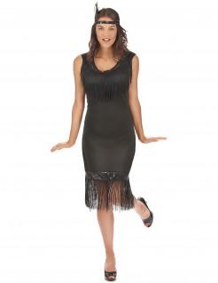 Tänzerinnen-Damenkostüm 20er Jahre schwarz