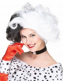 Cruella Damen-Perücke schwarz-weiss