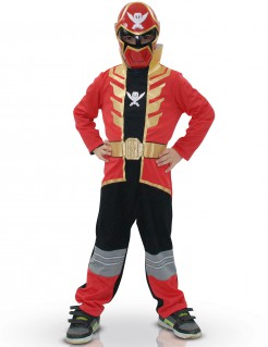 Power Rangers Super Megaforce Kinderkostüm Lizenzware rot-gold