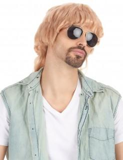 Vokuhila Herren-Perücke blond