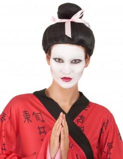Geisha Damen-Perücke schwarz-rosa