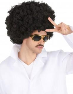 Lustige Afro-Perücke für Herren schwarz