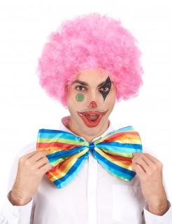 Afro Clownsperücke Kostüm-Accessoire pink