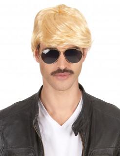 70er Retro Kurzhaar Herren-Perücke blond