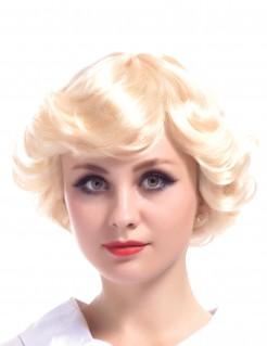 Vintage-Damenperücke Showgirl-Perücke blond