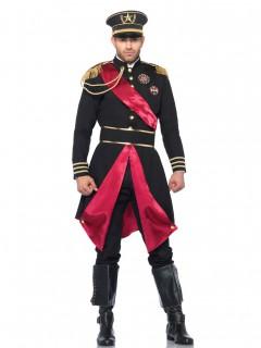 Eleganter General Militär Kostüm schwarz-rot