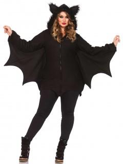 Bezaubernde Fledermaus Halloween Plus-Size-Kostüm für Damen schwarz