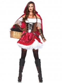 Heisse Märchen-Frau Damenkostüm rot-weiss-braun