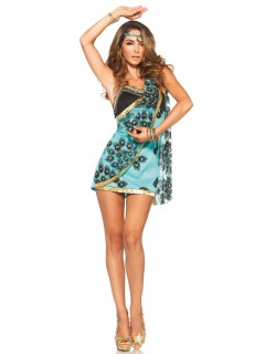 Heisse Sirene Damenkostüm Meerjungfrau blau-braun