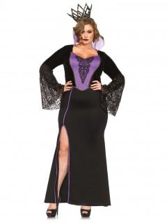 Böse Königin Damenkostüm Märchen Plus Size schwarz-lila