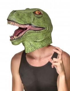 Riesige Dinosaurier Vollmaske grün