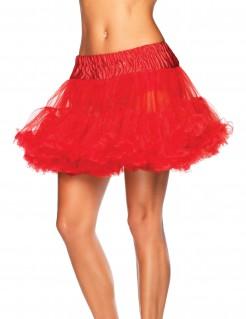 Petticoat Tüll-Rock mit Rüschen rot
