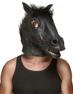 Pferdekopf-Maske schwarz-braun
