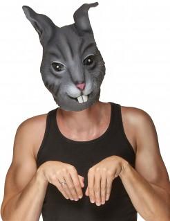 Kaninchenmaske Hasenmaske grau
