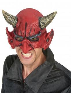 Halbmaske Teufel aus Latex Kostümzubehör rot