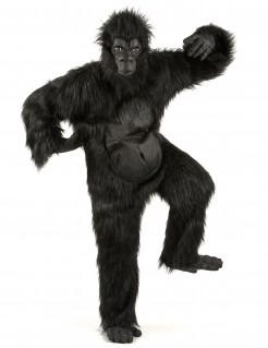Gorilla Kostüm mit Ani-Motion Maske schwarz
