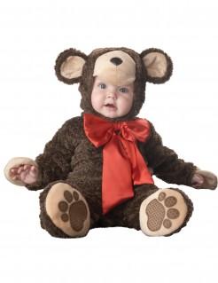 Kostüm Bärchen für Babys Deluxe braun-rot