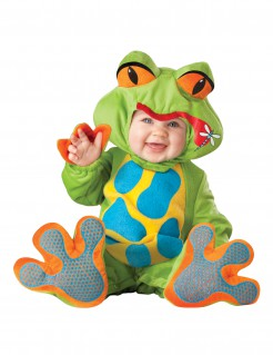 Premium Frosch Baby-Kostüm grün-bunt
