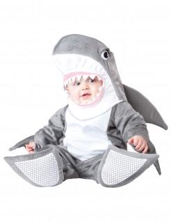 Hai-Kinderkostüm Tier grau-weiss