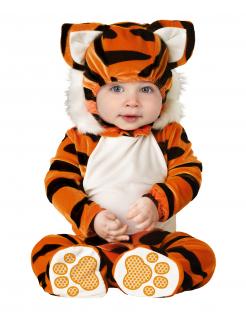 Tiger-Kostüm für Babys orange-schwarz