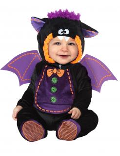 Süsse Fledermaus Babykostüm schwarz-lila
