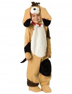 Hund-Kinderkostüm mit Schlappohren braun-weiss-schwarz