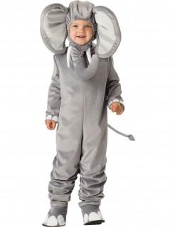 Süsses Elefanten Kinder-Kostüm grau