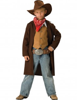 Cowboy Kinder-Kostüm braun-rot