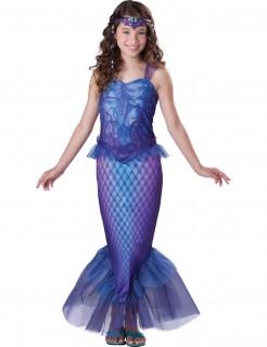 Kleine Meerjungfrau Karneval-Kinderkostüm blau-lila