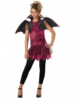 Süße Fledermaus Kostüm für Mädchen schwarz-pink