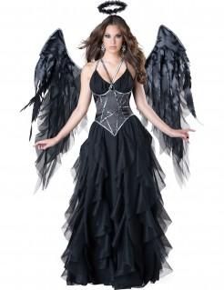 Dunkler Engel Damenkostüm Todesengel schwarz